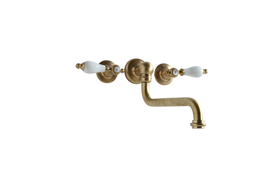 Wall mounted mixer three holes